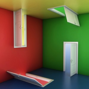 Colorful abstract doors